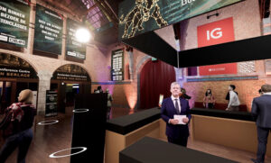 waan je op een echt evenement in een virtuele wereld