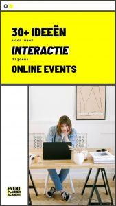 30+ ideeën interactie online events